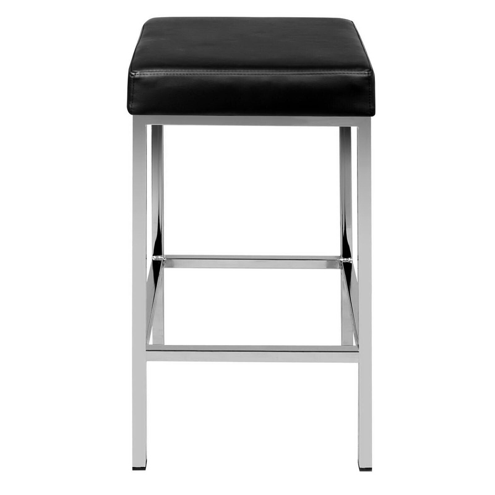Catalina Faux Leather Bar Stool Set of 2 Black