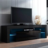 Delta TV Entertainment Unit Stand RGB LED Gloss Black 130cm