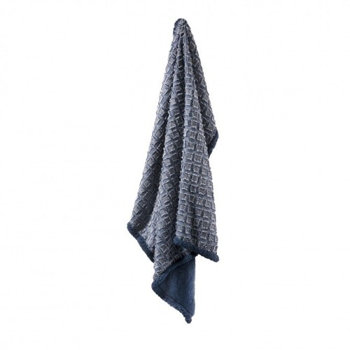 Cody Sherpa Throw Rug Indigo