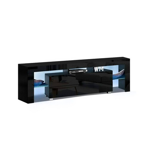 Ashford Entertainment Unit with LED 160CM (BLACK)