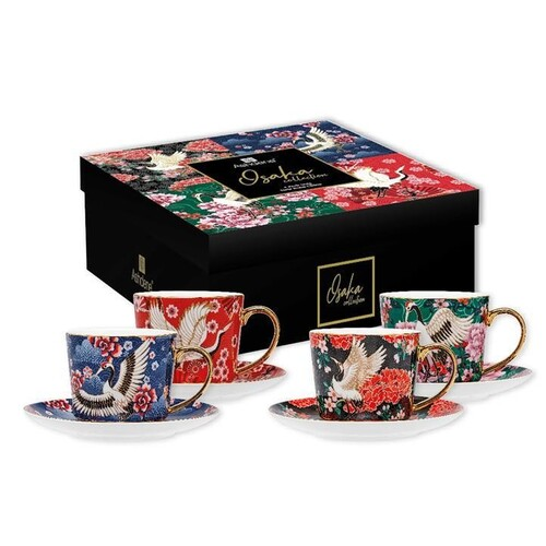Osaka Assorted Cup & Saucer Set Of 4
