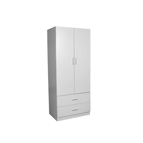 Kensington 2 Door 2 Drawer Wardrobe White