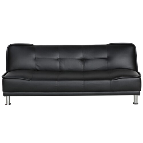 Axton Black PU Leather Sofa Bed