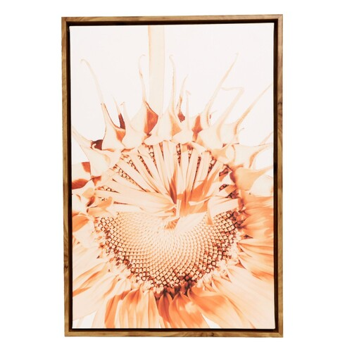 Flourish Sunflower Frame Canvas 44x64