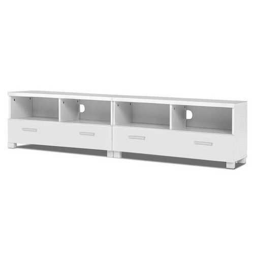 Berwin TV Stand Entertainment Unit with Drawers - White