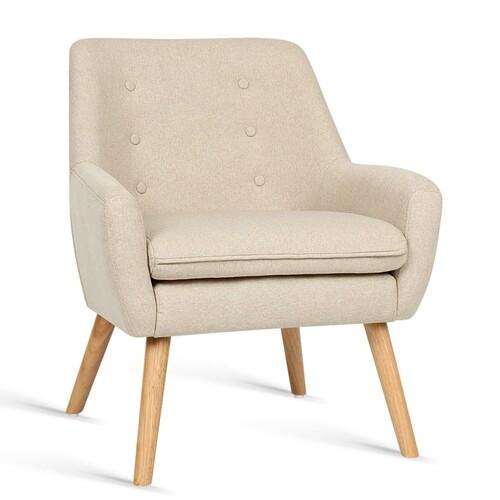 Christo Fabric Dining Armchair - Beige