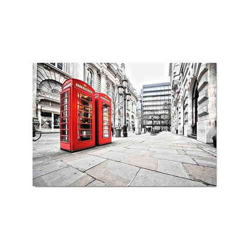 London Red Phone Booths 118 x 80cm