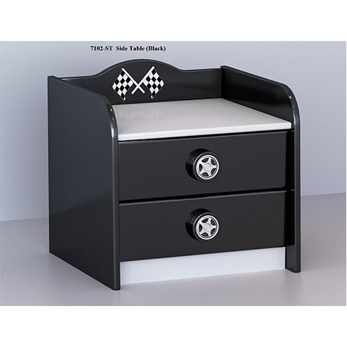 Racer Side Table Black